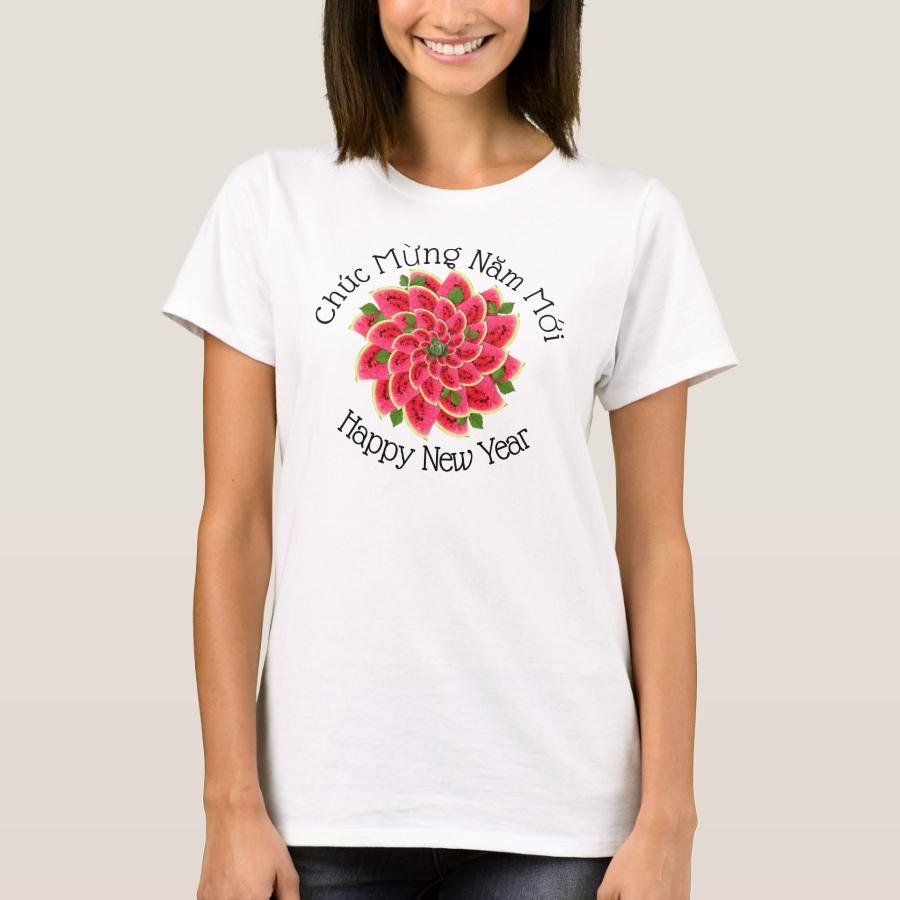Watermelon Tet Greetings T-Shirt - Best Selling Long-Sleeve Street Fashion Shirt Designs