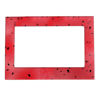 Watermelon Texture Background Magnetic Picture Frame