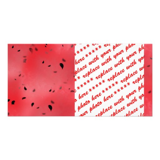 Watermelon Texture Background Photo Card