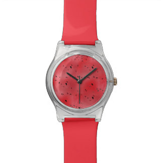 Watermelon Texture Background Wrist Watch