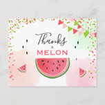 "Watermelon Thank you card Thanks a Melon birthday<br><div class=""desc"">♥ A wonderful way to thank your guests! Thank you card with a Melon theme.</div>"