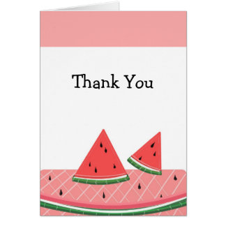 Watermelon Thank You Greeting Cards