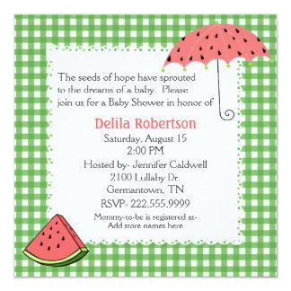 Watermelon Theme Baby Shower Custom Invitation