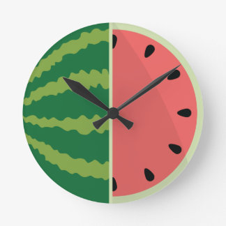 Watermelon Time! Round Clock