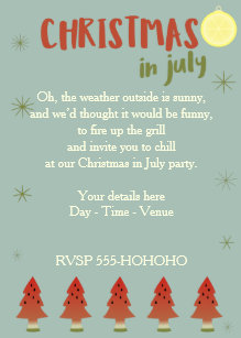 in july christmas invitations zazzle
