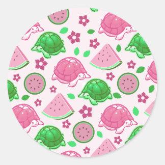 Watermelon Turtles Pattern Stickers