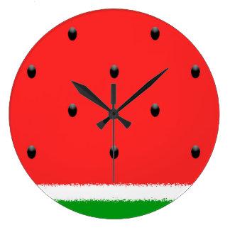 Watermelon wall clock. large clock