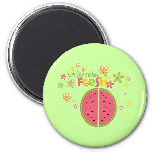 Watermelon Watermelon Fruit Sweet Health Fresh 2 Inch Round Magnet