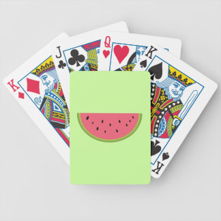 Watermelon Watermelon Fruit Sweet Health Red Half Bicycle Playing Cards