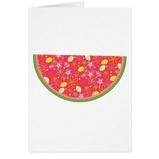 Watermelon Watermelons Fruit Sweet Health Fresh Greeting Card