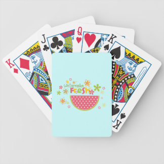 Watermelon Watermelons Fruit Sweet Health Fresh Bicycle Playing Cards
