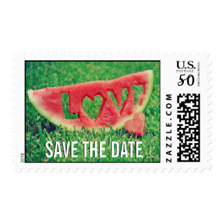 Watermelon Wedding Save the Date Postage