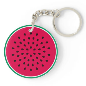 Watermelon Wedge Keychain