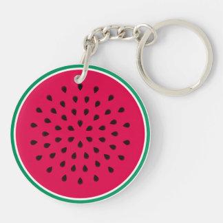 Watermelon Wedge Keychain