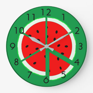 Watermelon Wedge Large Clock