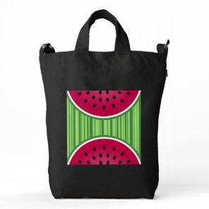 Watermelon Wedge Slice Duck Bag