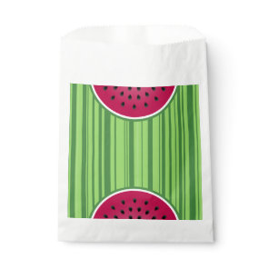 Watermelon Wedge Slice Favor Bag