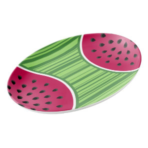 Watermelon Wedge Slice Porcelain Serving Platter