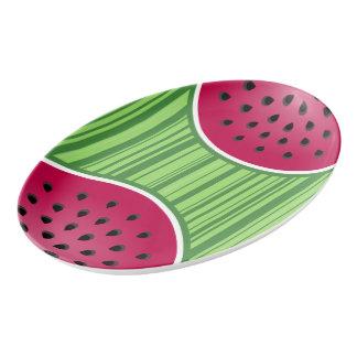 Watermelon Wedge Slice Porcelain Serving Platter