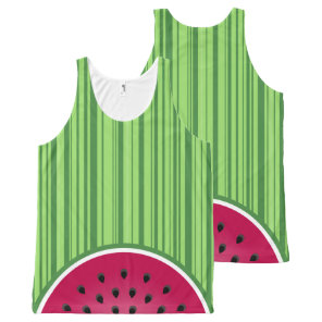 Watermelon Wedge Slices All-Over-Print Tank Top