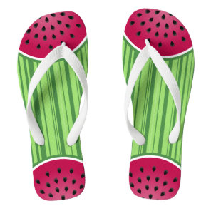 Watermelon Wedge Slices Flip Flops