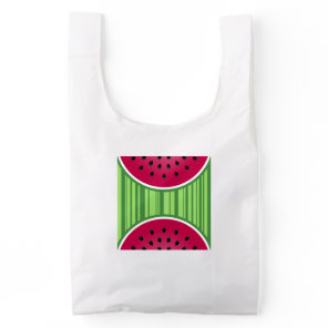 Watermelon Wedge Slices Reusable Bag