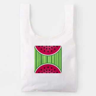 Watermelon Wedge Slices Reusable Bag