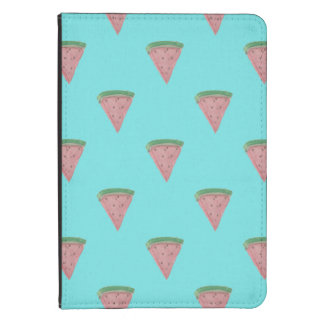 Watermelon Wedges in Watercolors on Aqua Blue Kindle Touch Cover