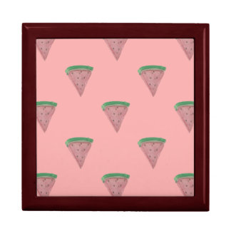 Watermelon Wedges in Watercolors on Rosy Pink Gift Box