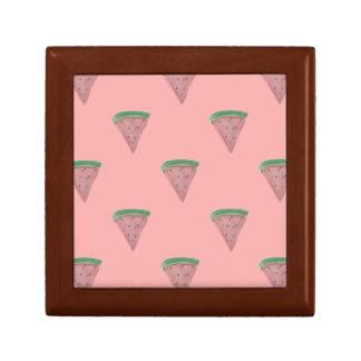 Watermelon Wedges in Watercolors on Rosy Pink Keepsake Box