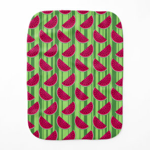 Watermelon Wedges Pattern Baby Burp Cloth