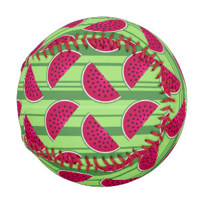 Watermelon Wedges Pattern Baseball