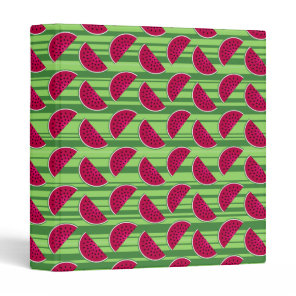 Watermelon Wedges Pattern Binder