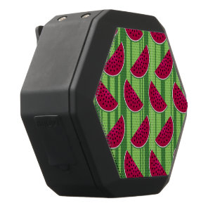 Watermelon Wedges Pattern Black Bluetooth Speaker