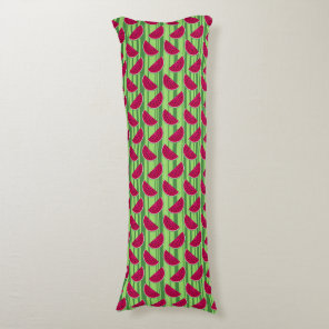 Watermelon Wedges Pattern Body Pillow