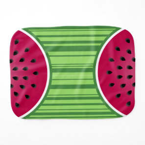 Watermelon Wedges Pattern Burp Cloth