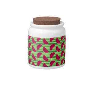 Watermelon Wedges Pattern Candy Jar