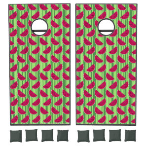 Watermelon Wedges Pattern Cornhole Set