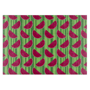 Watermelon Wedges Pattern Cutting Board