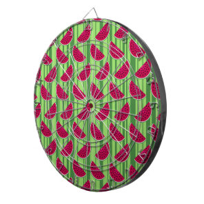Watermelon Wedges Pattern Dartboard With Darts