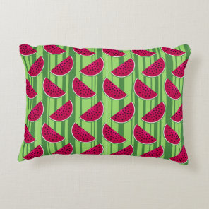 Watermelon Wedges Pattern Decorative Pillow
