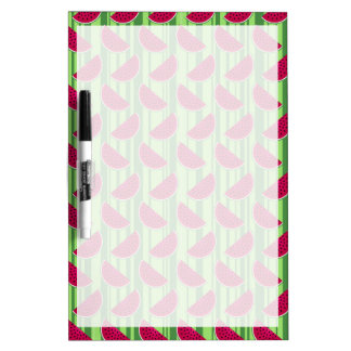 Watermelon Wedges Pattern Dry-Erase Board