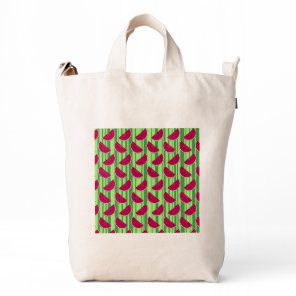Watermelon Wedges Pattern Duck Bag