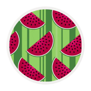 Watermelon Wedges Pattern Edible Frosting Rounds