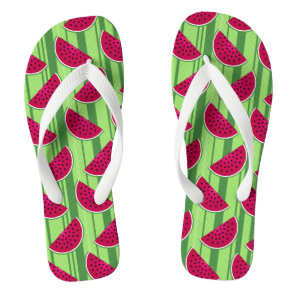 Watermelon Wedges Pattern Flip Flops