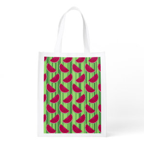 Watermelon Wedges Pattern Grocery Bag