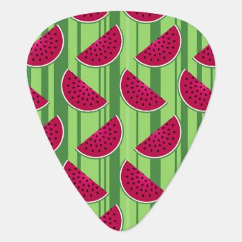 Watermelon Wedges Pattern Guitar Pick by mystic_persia at Zazzle
