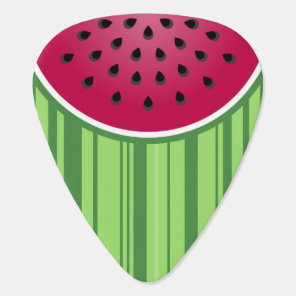 Watermelon Wedges Pattern Guitar Pick