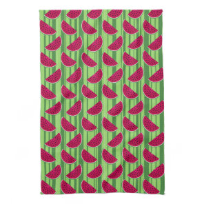 Watermelon Wedges Pattern Hand Towel