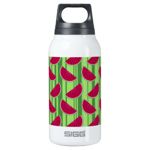 Watermelon Wedges Pattern Insulated Water Bottle